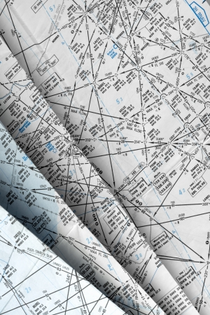 aeronautical: Many aeronautical navigation charts