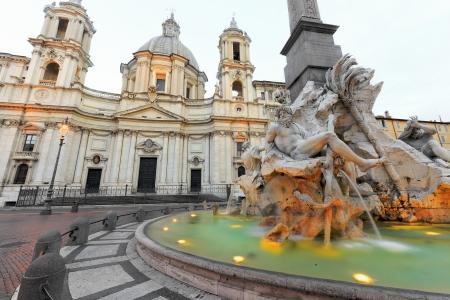 Fountain of Navona Square in Rome