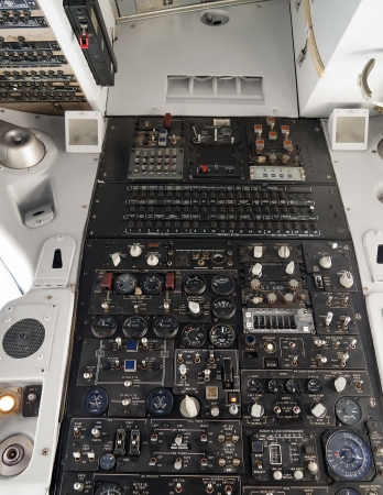 Top panel of an airliner in flight Stock Photo