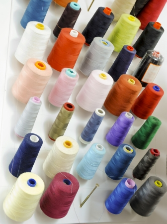 Spools of thread in tailoring