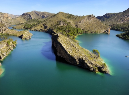 Wonderful colors of a Spanish lake