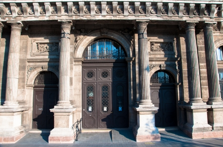 Old wooden door in Budapest  Beautiful vintage architecture