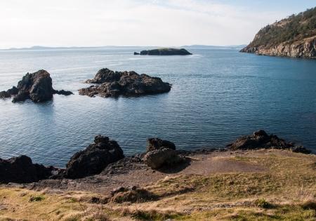 Beautiful view of deception pass state park, whidbey island, washington, usa