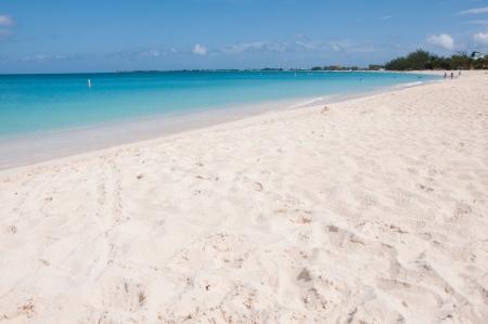 Gorgeous Tropical White Sand Beach in the summer