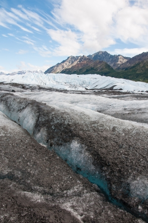 Matanuska Glacier, Glenn Highway, Alaska Imagens