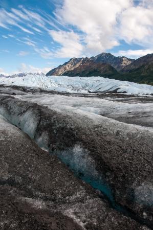 Matanuska Glacier, Glenn Highway, Alaska Banque d'images