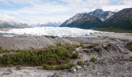 glenn: Matanuska Glacier, Glenn Highway, Alaska Stock Photo