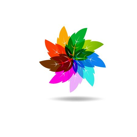 Beautiful Flower Color Wheel. Vector abstract Reklamní fotografie - 150157643