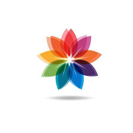 Beautiful Flower Color Wheel. Vector abstract Reklamní fotografie - 150157756