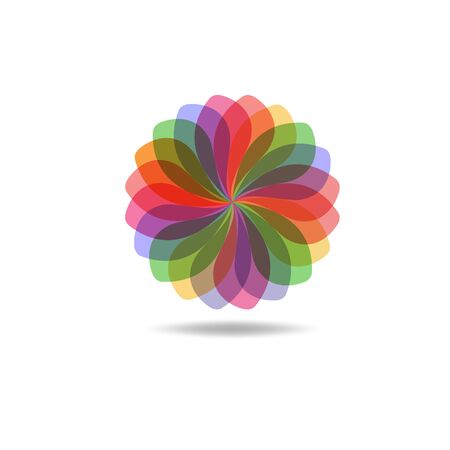 Beautiful Flower Color Wheel. Vector abstract Reklamní fotografie - 150157766