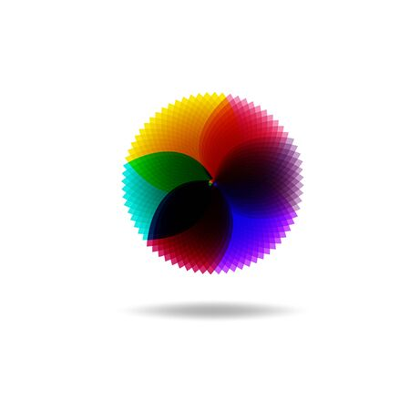Beautiful Flower Color Wheel. Vector abstract Ilustrace