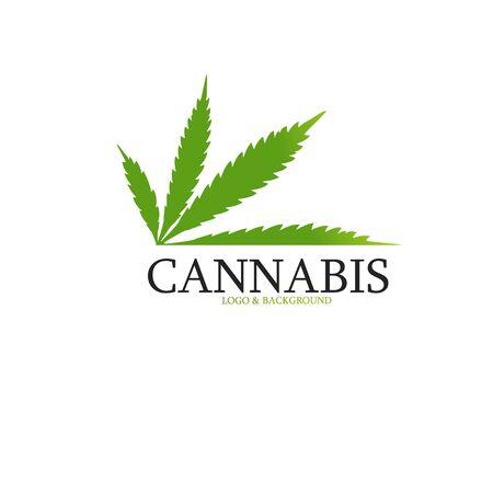 Design of medical cannabis dark background, vector