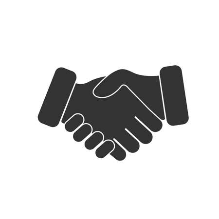 Handshake Friendship Icon Pictogram Symbol Vector Illustration