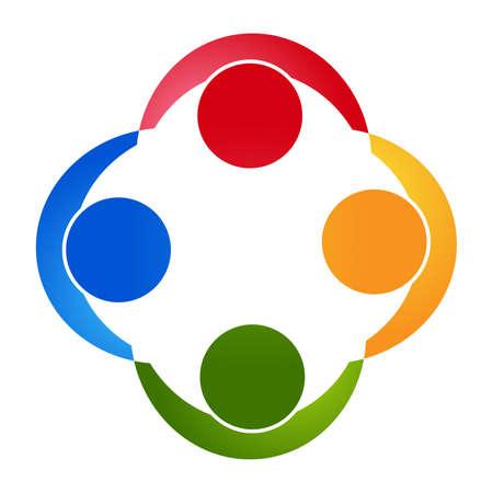 Teamwork people .community icon Vector Illustration Vector Illustration