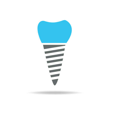 tooth wear brace on the blue background Stock Illustratie