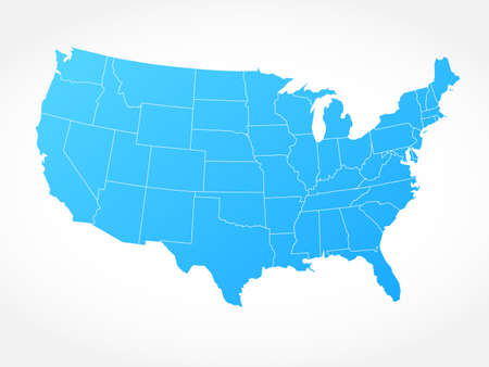 United States of America gray map Vecteurs