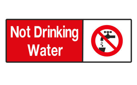 Not Drinking Water Symbol sign isolated on white background