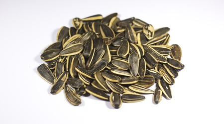 Sunflower Seeds Isolated on White photo