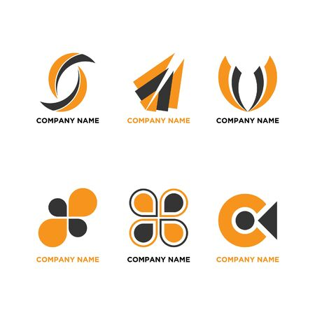Illustration vector graphic set of company  design. Very suitable for your company  .