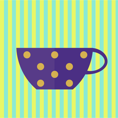 Cup for purple coffee