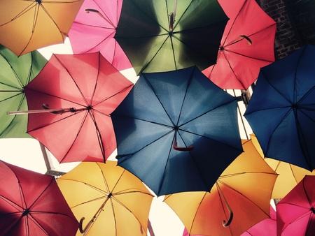 Adornment with umbrellas Standard-Bild