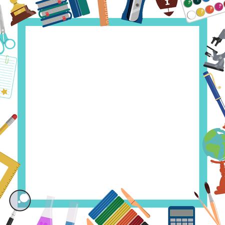 School backgroud. Frame and template for education design Ilustração