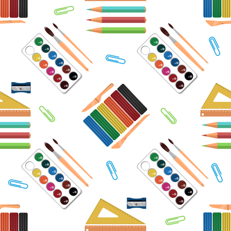 Education seamless pattern. Background for school and creation subjects