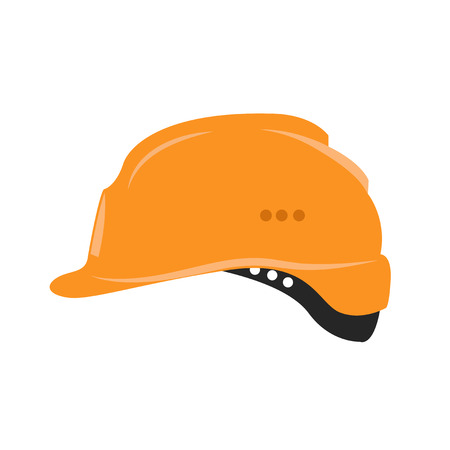 Isolated safety helmet icon in a flat style.