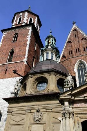 kathedraal in de stad Krakau Stockfoto