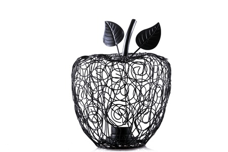 chandler: candelholder in shape of apple isolated over white