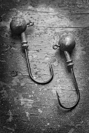 fishhooks close up vertical picture photo