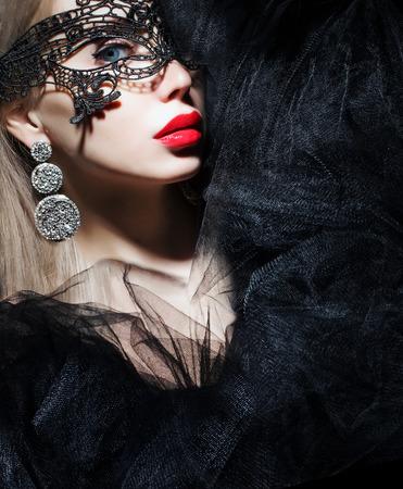 beautiful woman in mask