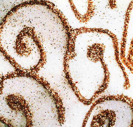 curls: abstract background with golden curls Stock Photo