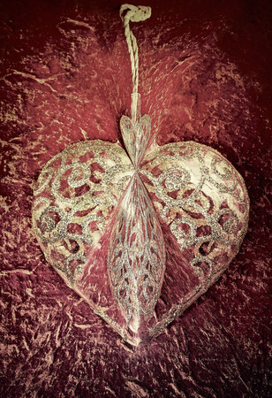 heart shape on a textured background Stock Photo