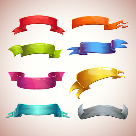 silk ribbon: Set of colorful ribbons