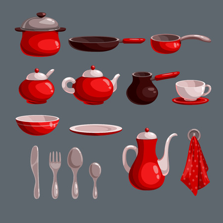 pots: Kitchen utensil set
