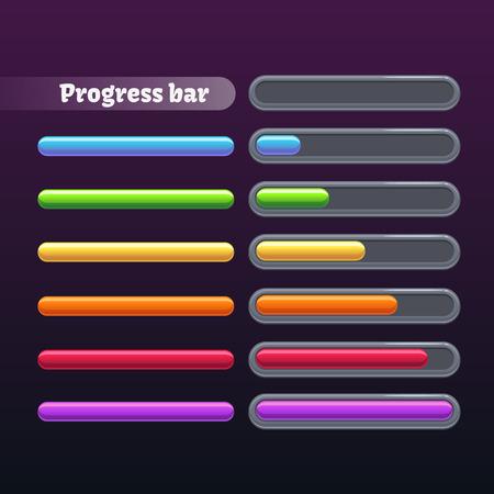 hoard: Colorful progress bar set Illustration