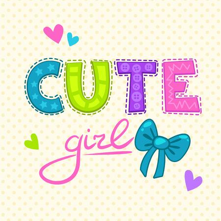 Print design: Cute vector illustration for girls t-shirt print.