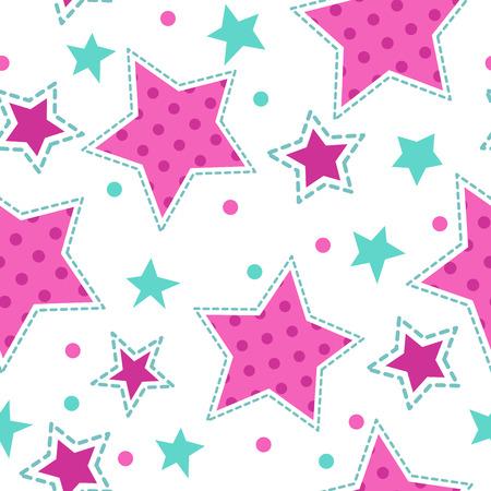 Lindo patrón sin fisuras de niña, textura vector para la industria textil, web o diseño de la tipografía Foto de archivo - 49193380