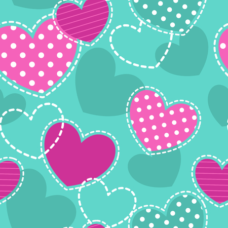 girlish: Cute girlish seamless pattern, vector texture for textile, web or typography design