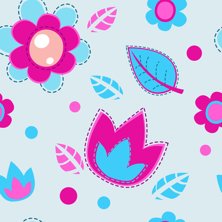 nice girl: Cute girlish seamless pattern, vector texture for textile, web or typography design