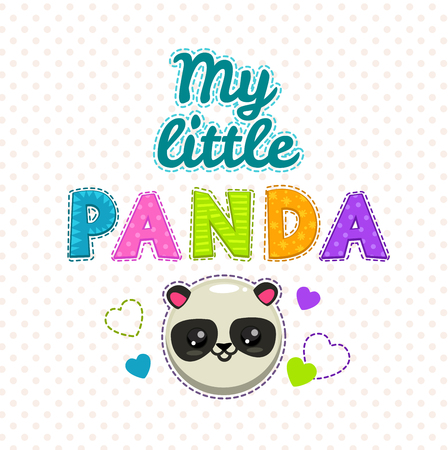 bebes lindos: Ilustración niños lindos, plantilla vector para infantil camisetas de diseño