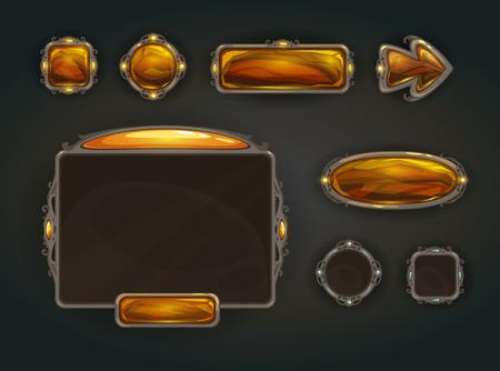 jeu: actifs Cool vecteur de l'interface utilisateur du jeu, le concept de l'interface graphique de guerre médiévale