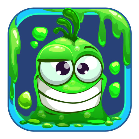 mobile application: App icon with funny green slimy monster.