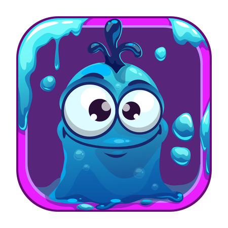 slimy: App icon with funny blue slimy monster.
