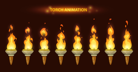 Cartoon torch animation. Çizim