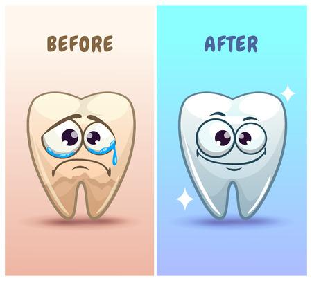 Personnages dentaires drôles Vecteurs