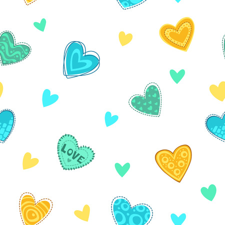 patch of light: Funny girlish printable texture with cute hearts.