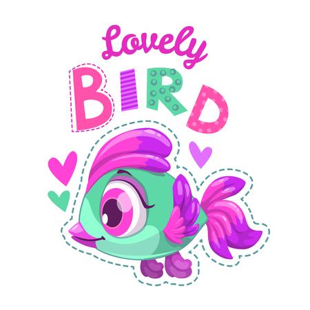 nice girl: Cute childish illustration Illustration