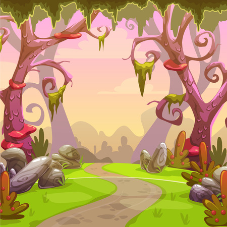 Fantasy forest illustration.